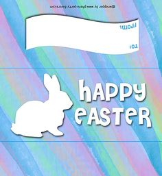 Easter Bunny Silhouette Free Printable Candy Bar Wrapper, ready to personalize with your message. Candy Bar Wrapper Template, Candy Bar Wrappers, Chocolate Bar Wrappers, Chocolate Bars, Hersheys, Easter Messages, Easter Printables, Free Printables, Easter Candy