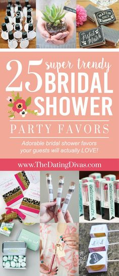 25 Bridal Shower Party Favors Your Guests Will Actually Like! These are such trendy bridal shower favors! - www.TheDatingDivas.com