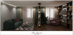 Дизайн-проект квартиры ЖК Скандинавия. Divider, Curtains, Room, Furniture, Home Decor, Bedroom, Blinds, Decoration Home, Room Decor