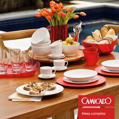 Decoração; mesa; café; receita; pratos; copos; louça; inspiração; Camicado; décor
