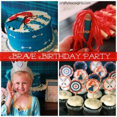 brave party ideas | Brave Merida Inspired Birthday Party. Lots of cute party ideas- from ...