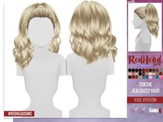 Coupure Electrique: Toksik Jealous hair retextured kids and toddlers version  - Sims 4 Hairs - http://sims4hairs.com/coupure-electrique-toksik-jealous-hair-retextured-kids-and-toddlers-version/