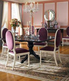 pink purple dining room