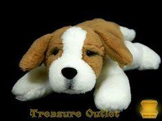 Dakin Applause Lou Rankin Mini Stuffed Plush Beanie Alps St. Bernard Dog Rare