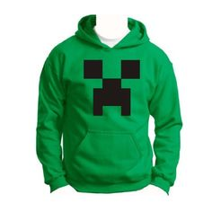 Amazon.com: CREEPER Minecraft YOUTH CHILD Hoodie Monster Ghost Video Game PC Xbox 360 Rave 3D Indie Wii Funny Cool WoW YOUTH/Child/Kid Hoodie Hooded Sweatshirt: Clothing