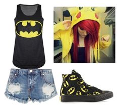 """""""another batman set"""" by xxghostlygracexx ❤ liked on Polyvore featuring One Teaspoon and Converse"""