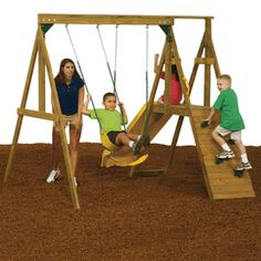 $512  Would still need platform climbing areas: PlayStar�Sonoma Residential Wood Playset with Swings