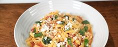 RIGATONI WITH CHICKEN AND FETA- This dish is a simple & delicious dinner that your whole family will love!