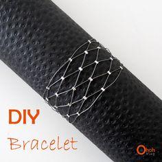 Ohoh Blog - diy and crafts: DIY Bracelet - step by step Photo tutorial - Bildanleitung