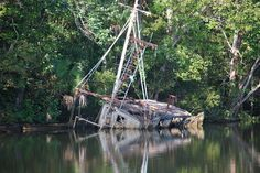 An old fishing boat is seen during the three-hour eco-tour along the Apalachicola River Basin.  Nice write up about the area.