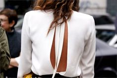 A lovely white blouse is the cornerstone to a fabulous look.