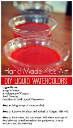 DIY Liquid Watercolor Recipe