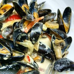 Blue cheese mussels!!! Yeah!!!