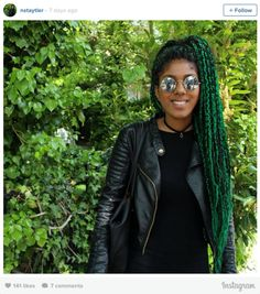 16 Stunning Photos of Colored Box Braids, the Summer Protective Style Trend Taking Over Instagram | Black Girl with Long Hair
