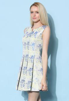 Sunrise Impression Pleated Dress - New Arrivals - Retro, Indie and Unique Fashion
