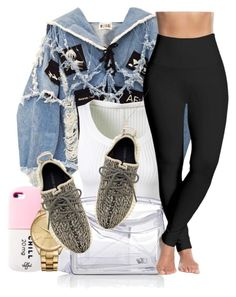 """Kill Em With Kindness"" by tyrionnak ❤ liked on Polyvore featuring BLK DNM, Alaïa, Loewe, Lacoste, Lyssé Leggings and adidas Originals"