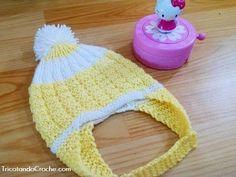 Gorro Aviador em tricô - Tricotando Crochê