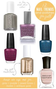 12 nail trends + must-have polishes for fall from Babble.com
