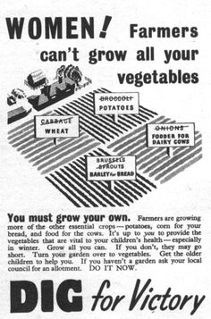 Women! Farmers can't grow all your vegetables