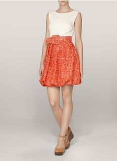 alice + olivia - Selby bubble skirt dress | Yellow and Orange Casual Dresses
