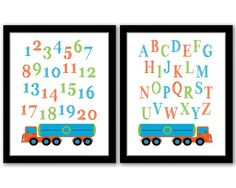 INSTANT DOWNLOAD Truck Wall Art Set of 2 ABC by SeventeenFields