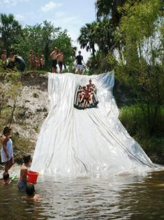 Backwoods water slide//