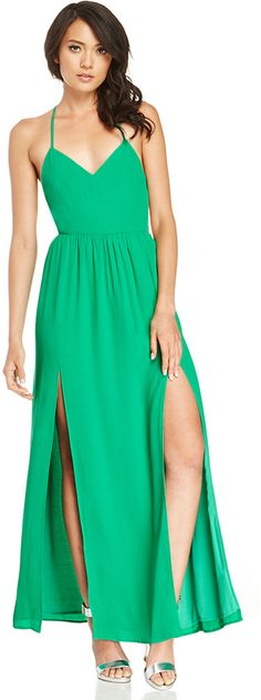 Blaque Label Backless Maxi Dress in green S - L
