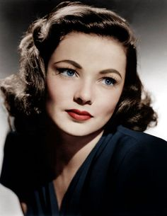 Authentic 1940s Makeup History and Tutorial. Gene Tierney wears the 1940s look with all natural ease. #190sfashion #makeup