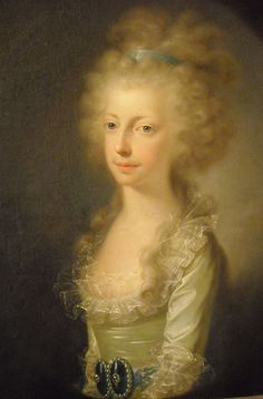 """""""Maria Clementina of Austria, Francesco of Bourbon's first wife"""" (about 1791) by Joseph Hickel (Bomisch-Leipa 1736-Wien 1807) - Naples, Royal Palace"""