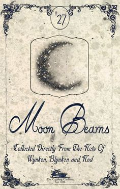 """Moon Beams"" #BottleLabel #Moon"