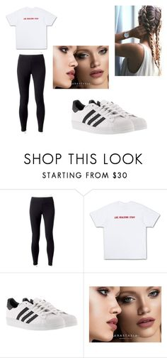 """Untitled 31"" by bre-winter ❤ liked on Polyvore featuring Jockey, adidas and Anastasia Beverly Hills"
