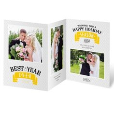 Best Year Ever - Photo Holiday Card | Newlywed Christmas Cards at Invitations By Dawn