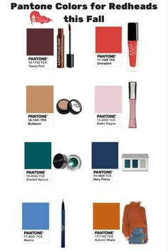 Pantone Colors for Redheads this Fall | How to be a Redhead