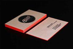 Letterpress Business Cards  Tarjeta de visita