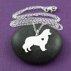 A Border Collie Has My Heart Necklace