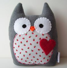 Spunky Owl Plush by gush4plush on Etsy