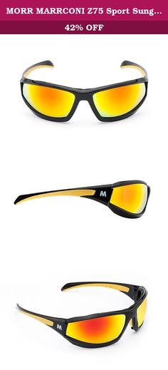 4d67edefa13 MORR MARRCONI Z75 Sport Sunglasses with Mirrored Lenses and Padded Frame  for Mountain Biking