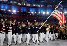 Team USA during the Opening Ceremony of Olympics Rio 2016.