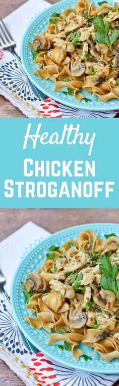 Healthy Chicken Stroganoff - get the 30 minute recipe on http://RachelCooks.com
