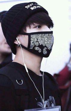 jungkook x black mask.