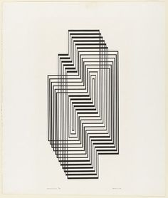 vjeranski: Josef Albers (American, born Germany. 1888–1976) Ascension from the series Graphic Tectonic
