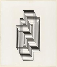 vjeranski: Josef Albers (American, born Germany. 1888–1976) Ascension from the series Graphic Tectonic