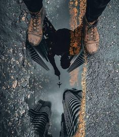 The reflection in this puddle