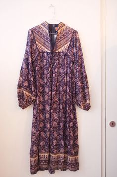 Vintage indian cotton hippie Phool dress S by Indianaweg on Etsy