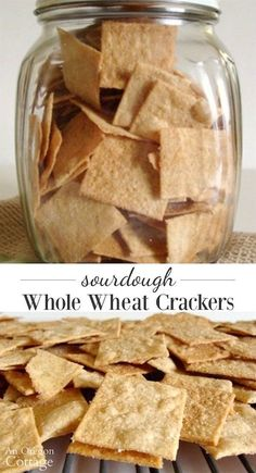Surprisingly easy sourdough whole wheat crackers are SO worth it and great way to use extra starter. Sourdough Recipes, Sourdough Bread, Bread Recipes, Whole Food Recipes, Cooking Recipes, Starter Recipes, Smoker Recipes, Rib Recipes, Cooking Tips