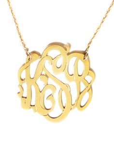 METAL SCRIPT MONOGRAM NECKLACE - Moon and Lola
