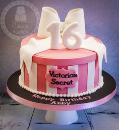 Victoria's Secret cake www.facebook.com/Cakes.at.Rachels