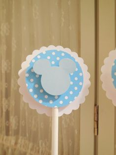 Baby Mickey/Minnie Mouse Cupcake Topper, Baby Mickey Cupcake Pick, Baby Mickey Cake Topper, Baby Mickey Cake Pick (12)