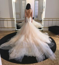 Galia Lahav Loretta Blush Wedding  Dress Fitting