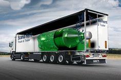 3D adverteren vrachtwagen